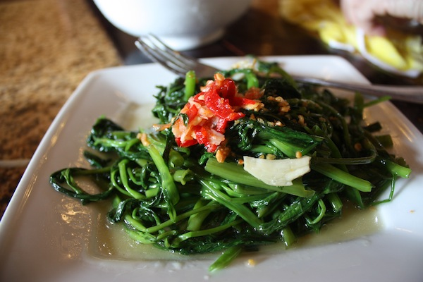 Morning glory dish at Morning Glory Cooking Class, Hoi An, Vietnam