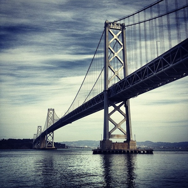 Bay Bridge on a beautiful day in San Francisco, California
