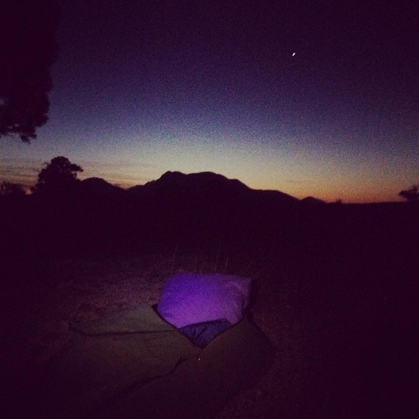 Sleeping under the stars at Stirling Ranges, Western Australia