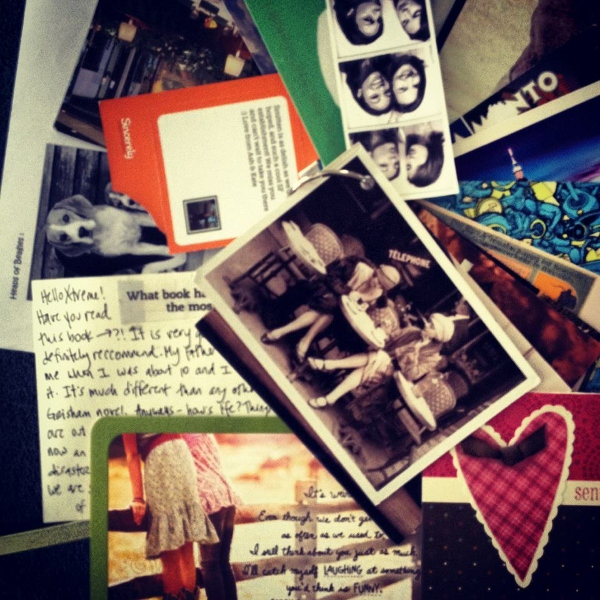 Postcards, cards and letters I received in Australia from friends around the world