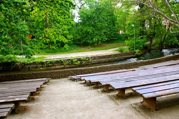 Creek amphitheatre on California State University, Chico campus