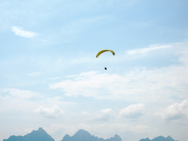Paragliding in the Bavarian Alps, Germany