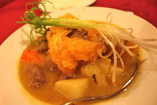 Duck a l'orange at La Carambole Restaurant, Hue, Vietnam