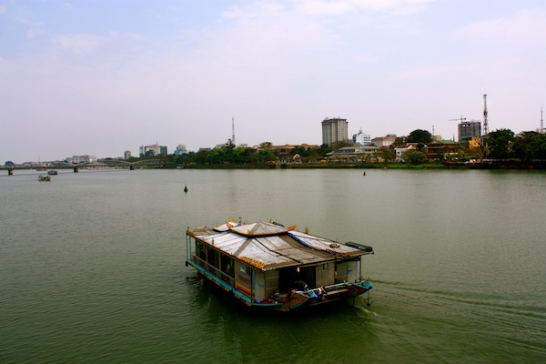Boat on the Perfume River in Hue, Vietnam