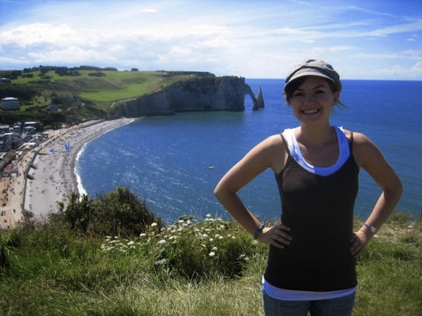 Christine Amorose in Etretat, France in 2007