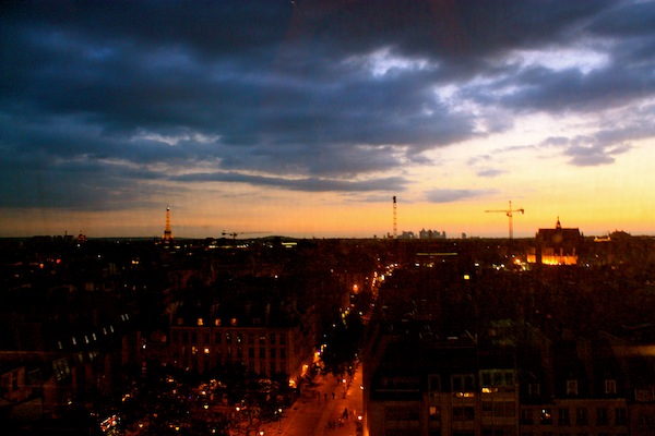 Sunset over Paris from the Centre Pompidou Museum, France