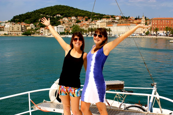 Kelsey Dei Rossi & Christine Amorose before leaving Split, Croatia