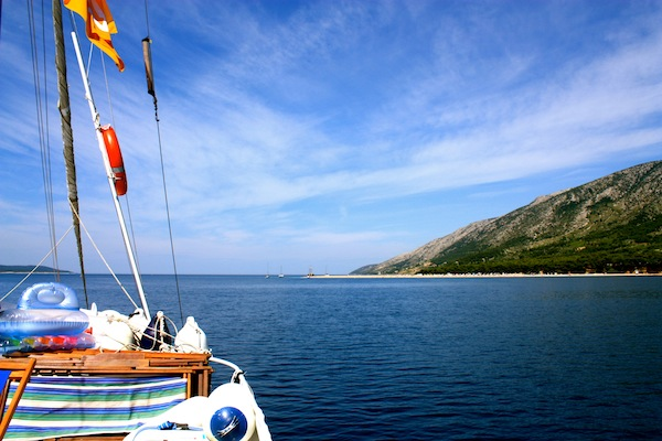 View from the Busabout Croatia Sailing boat in the Adriatic Sea