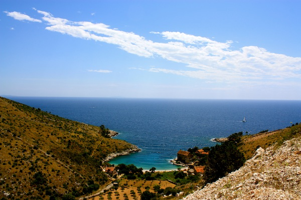 View of the Adriatic Sea from Hvar Island, with Busabout Croatia Sailing