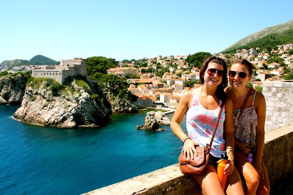 Kelsey Dei Rossi & Christine Amorose in Dubrovnik with Busabout Croatia Sailing