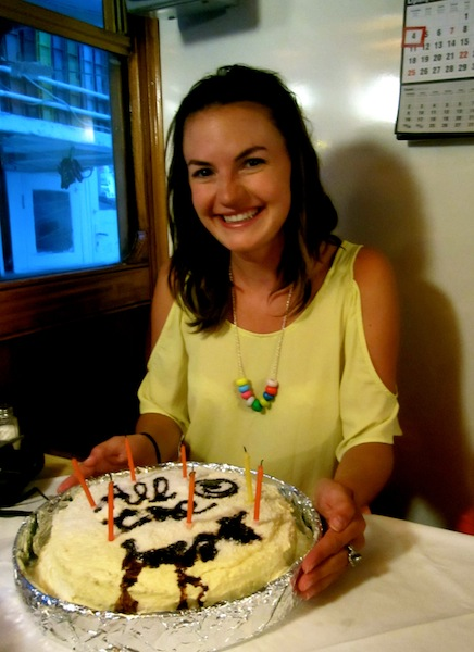 Christine Amorose celebrating her 24th on Busabout Croatia sailing