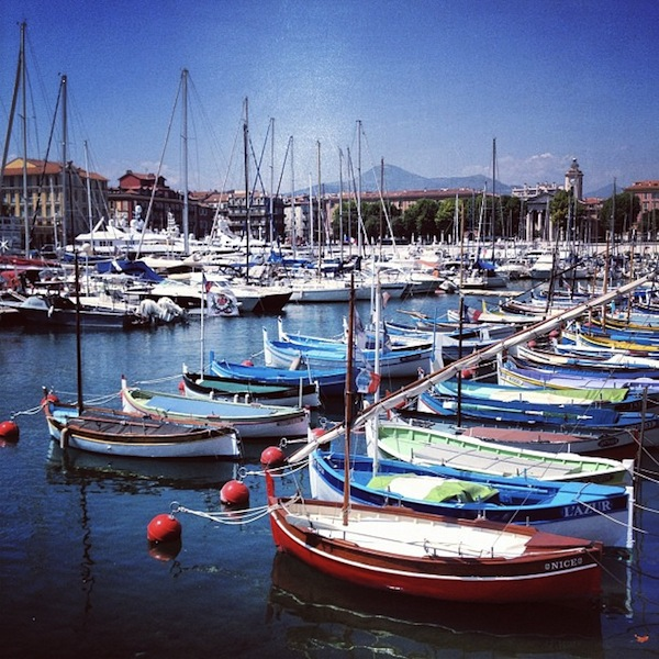 Boats in port in Nice, France