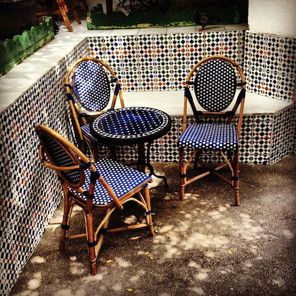 Chairs at La Mosquee, the Paris mosque tea room