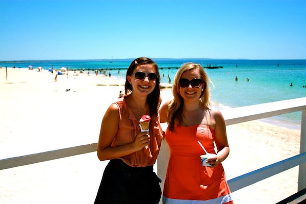 Christine Amorose and Renee Eggers in Busselton, Western Australia