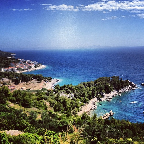 Beaches and Adriatic Sea on Hvar Island, Croatia