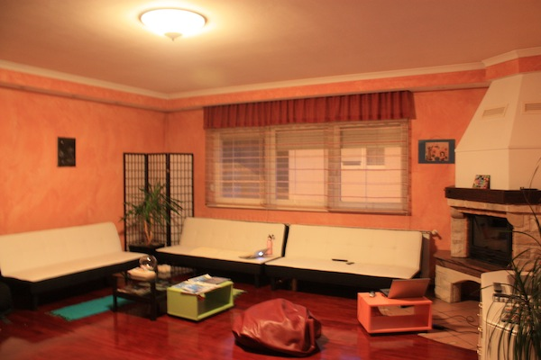 Lounge area at The House Hostel in Zagreb, Croatia