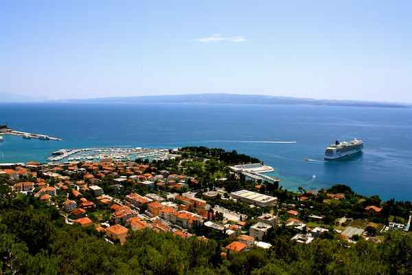 View over Split and the Adriatic Sea in Croatia