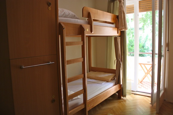 Awesome bunk setup at Tchaikovsky Hostel, Split, Croatia