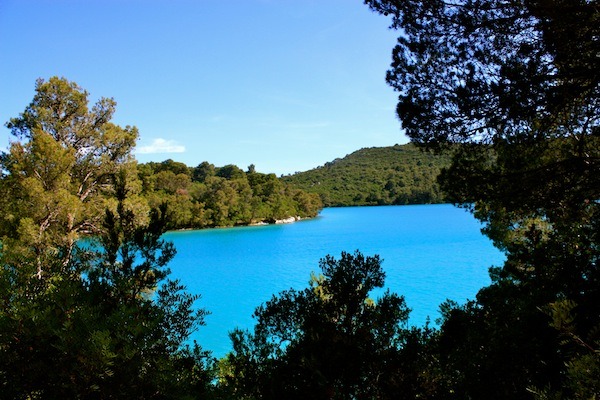 The blue lakes of Mljet National Park, Croatia