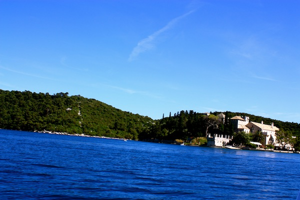 Monastery on an island in Mljet National Park, Croatia