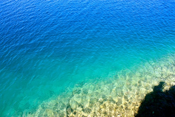 Clear blue water of Mljet National Park, Croatia