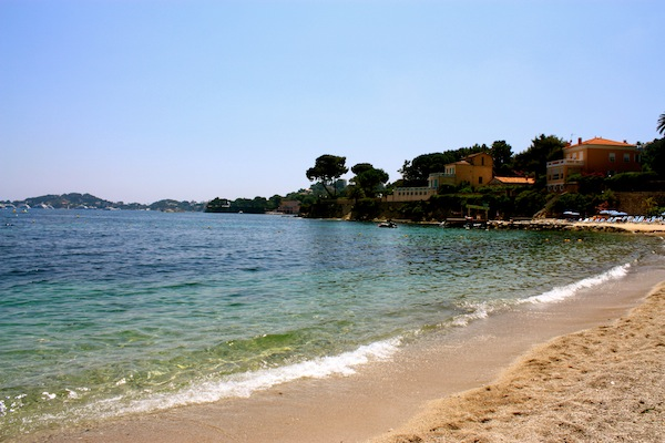 Beaulieu-sur-mer beach plage in the French Riviera, France