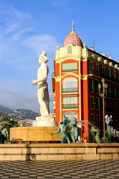 Place Massena in Old Nice, French Riviera, France
