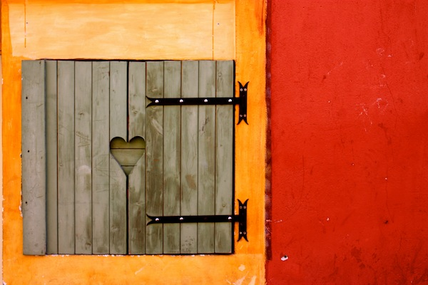 Heart detail in a shutter in Old Nice, French Riviera, France