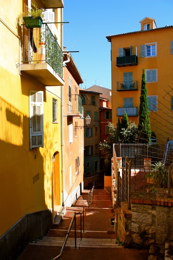 Streets of Old Nice in French Riviera, France