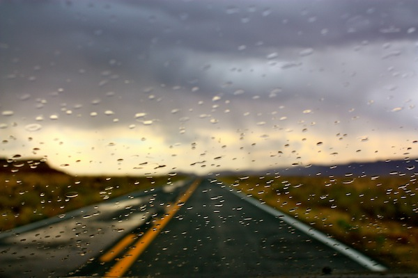 Rainy drive in Arizona on the ultimate USA road trip