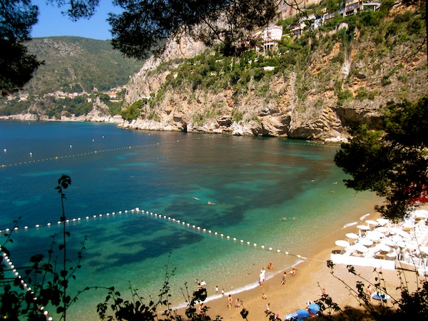 Cap d'Ail, Eden and Mala Plage beach in French Riviera, France