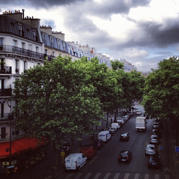 View from the Promenade Plantee, Coulee Verte in Paris, France