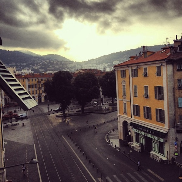 Sunrise over Place Garibaldi in Nice, France