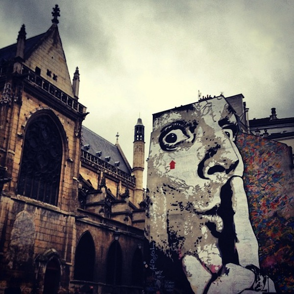 Jef Aerosol Paris street art near the Centre Pompidou, France