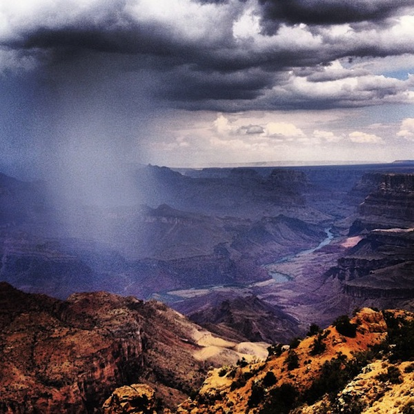 Thunderstorm rolling in over the South Rim, Grand Canyon, Arizona, USA