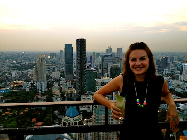 Christine Amorose at Vertigo at Banyan Tree Hotel in Bangkok, Thailand