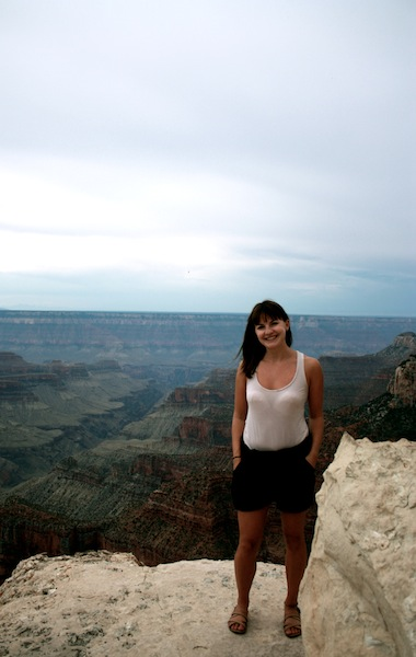 Christine Amorose on the Grand Canyon North Rim, Arizona, USA