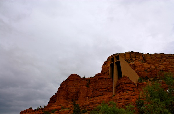 Chapel of the Holy Cross in the red rocks of Sedona, Arizona, USA