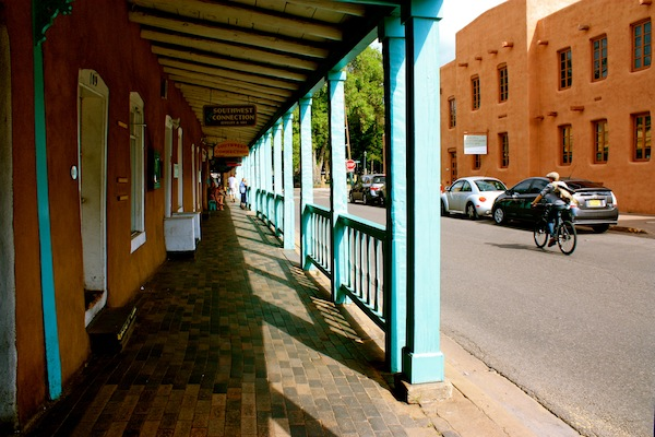 The streets of Santa Fe, New Mexico, USA