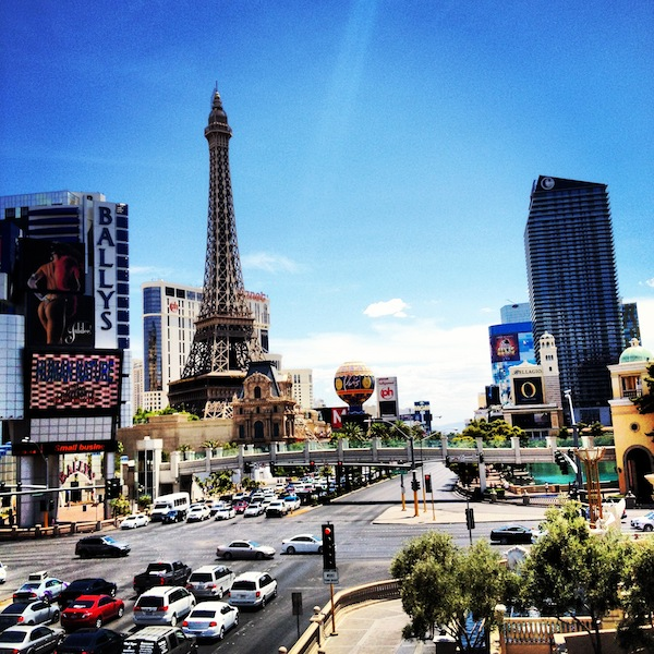 Las Vegas Strip on a sunny July day, Nevada, USA