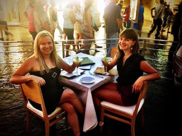 Christine Amorose and Renee Eggers at Spago in Las Vegas, Nevada