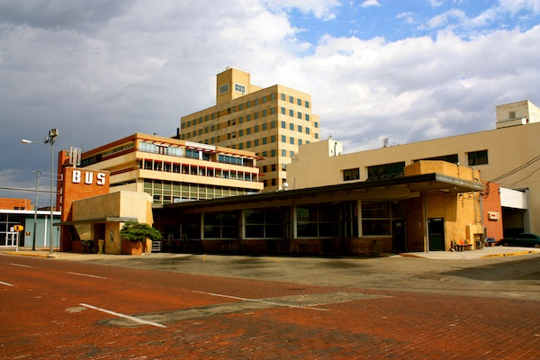 Greyhound Bus Station in Amarillo, Texas, USA