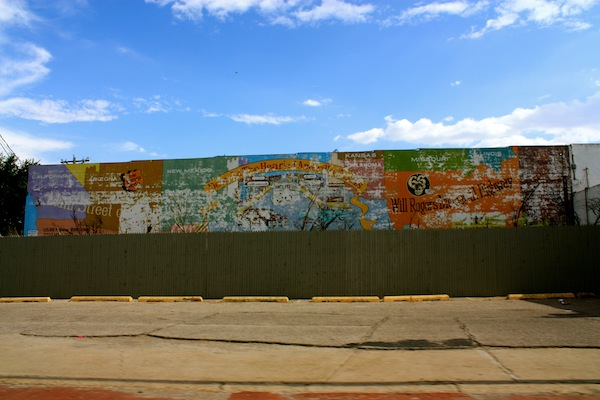 Street art on Route 66 in Amarillo, Texas, USA