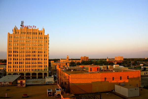View of downtown Amarillo from the Courtyard Marriott, Texas, USA