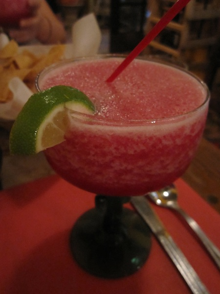 Prickly pear margarita at El Rincon Mexican Restaurant in Sedona, Arizona, USA