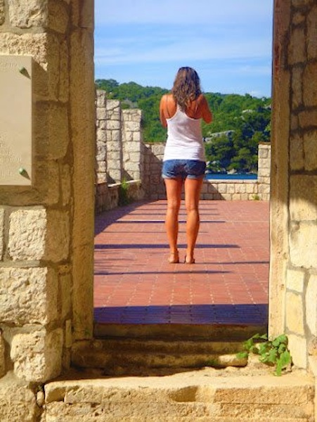 Taking photos in Mljet National Park, Croatia