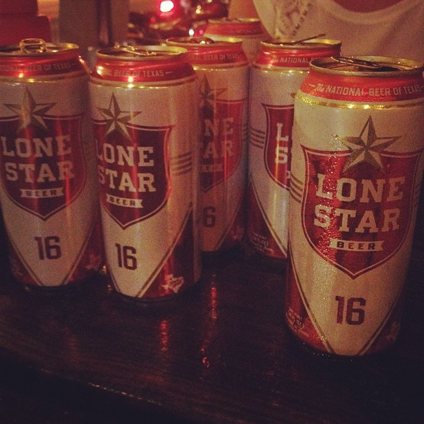 Lone Star beers at Black Sheep Lodge in Austin, Texas