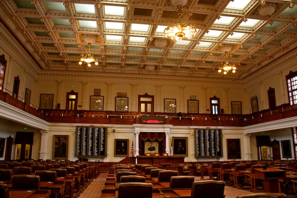 Interior of Texas State Capitol building in Austin, Texas, USA