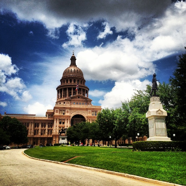 Texas State Capitol building exterior on a sunny day in Austin, Texas