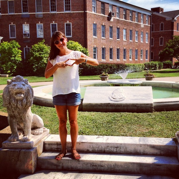ADPi Christine Amorose at Wesleyan College in Macon, Georgia